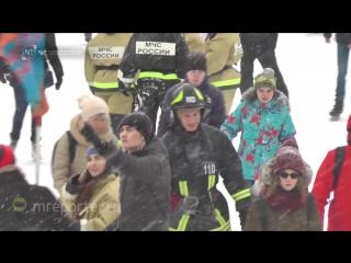 В Парке Горького состоялся пожарно-спасательный флешмоб