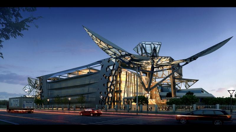 Будівля трансформер виставкового центру Zoomlion