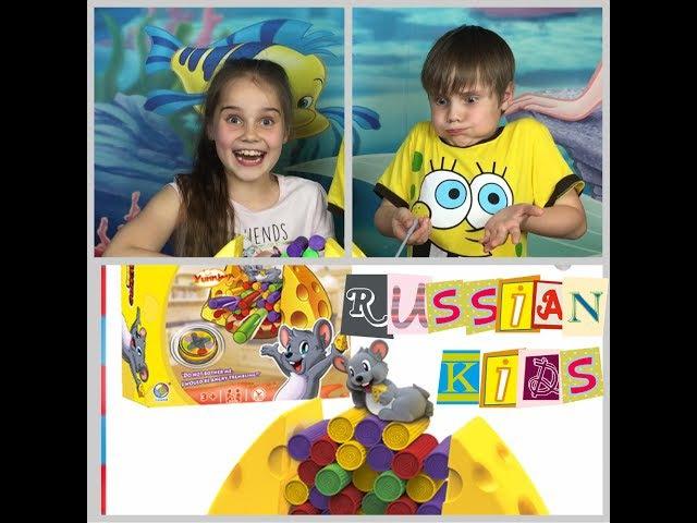 Настольная игра мышка Джимми любит сыр Jimmy Mouse Love Chees Russian kids
