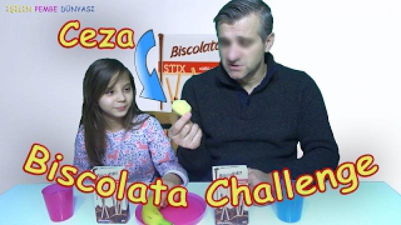 Biscolata STIX Challenge (Babam ile ilk kez) - Çiğ Patates Yeme Cezalı Iyy - Eğlenceli Çocuk Videosu