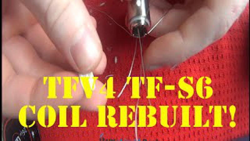 How To Re build The Smok TFV4 TF S6 Coil Head