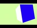 3D kub v dvizhenii