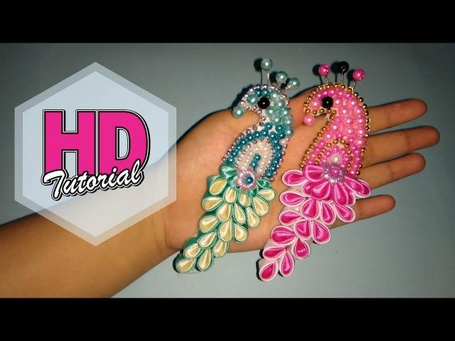 DIY Cara Membuat Bros Merak HD Tutorial Kanzashi flower