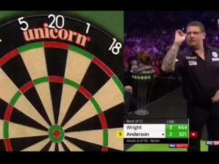 Peter Wright vs Gary Anderson (2018 Premier League Darts / Week 4)