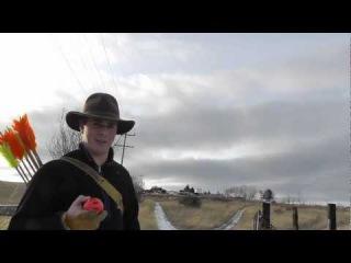 In Flight Archery - Aerial Targets and Flu Flu Arrows - Trick Shooting - Self Thrown