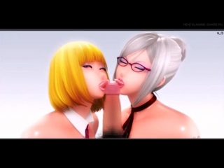Hana X Meiko animation loop compilation - Prison School/Kangoku Gakuen (3D hentai 18+)
