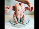 Курица запечённая в духовке на банке с пивом