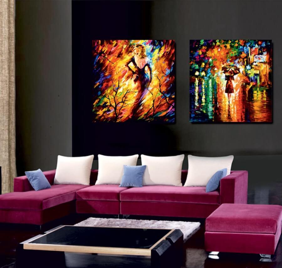 картина для зала над диваном выращивать