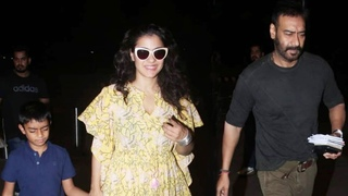 Ajay Devgn With His Wife Kajol & Kids Spotted At Mumbai Airport