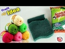 WOW !! Dish Scrubber Craft Idea    DIY Room Decor making at Home    Handmade Things    Wall Hanging