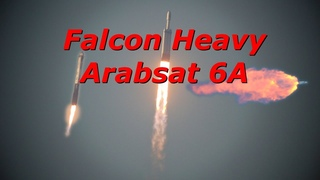 Close Up Footage of Falcon Heavy Arabsat-6A!