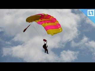 Момент смертельного падения парашютиста