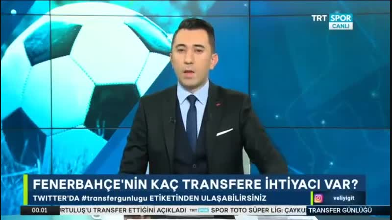 Fenerbahçe ve Beşiktaş Transfer Günlüğü Trtspor 23 Ocak