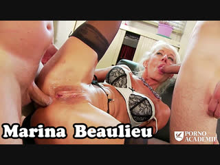 Marina Beaulieu. Студент и ректор долбят зрелую профессоршу во все места. мамка анал секс трах mature mom anal ass dp squirt sex