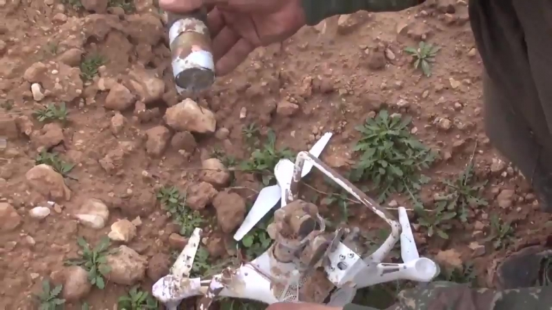 PKK guerilla with a steady hand downs an ISIS drone in Shingal Sinjar with one shot