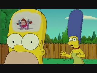 Mose mai monkey - the simpsons movie (homer's train of thought)