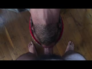 A guy fucks mouth deepthroat and cums on throat