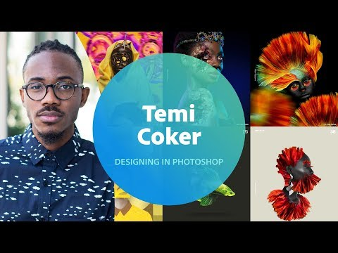 Live Designing in Photoshop with Temi Coker 2 of 3