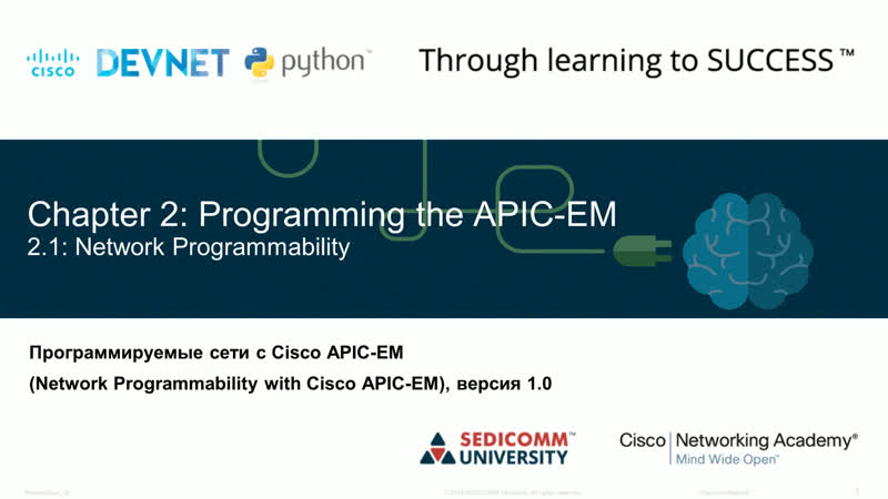 Chapter 2 Programming the APIC-EM
