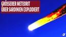 Grösserer Meteorit über Sardinien explodiert Video