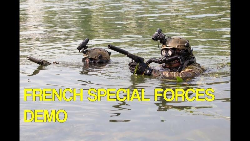 French Special Forces demo Démo des Forces Spéciales 1er RPIMa et 4e RHFS - 14 juillet 2018