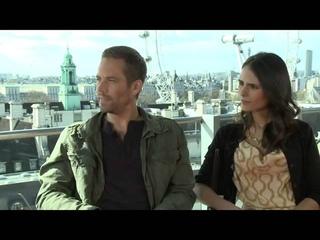 Paul Walker & Jordana Brewster's Fast & Furious 6 Interview  1