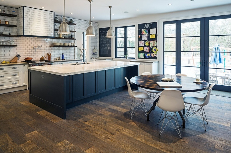 Черно-белая кухня – особенности контрастного дизайна., изображение №12
