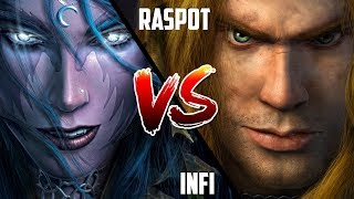 WC3: Infi (Night Elf) vs. Raspot (Human) [BlizzCon 2010 G1] | Warcraft 3