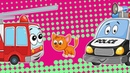 Мультфильмы Про Машинки - Авария На Дороге - Видео Для Детей - Пожарная и Полицейская Машина