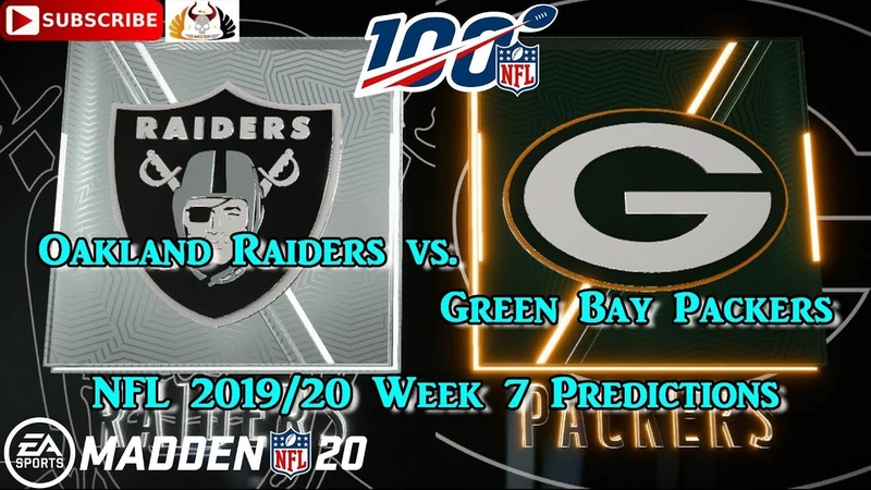 Oakland Raiders vs. Green Bay Packers | NFL 2019-20 Week 7 | Predictions Madden NFL 20