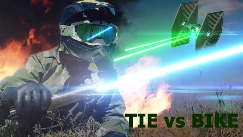 STAR WARS. TIE vs BIKE. Fan-video
