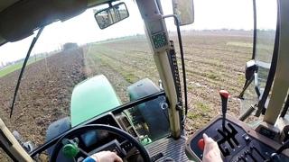 Cab View John Deere 7710 Plowing