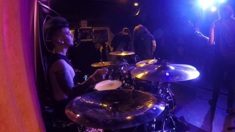 A Trigger Within - Battlewounds (Live @The Slidebar - drum cam)