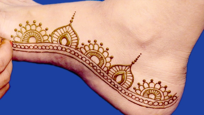 Beautiful Mehndi Design for Feet for Eid Diwali Rakhi Karwa Chauth by Sonia Goyal 541