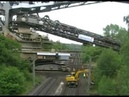 Bagger 288 crosses the railroad Made People