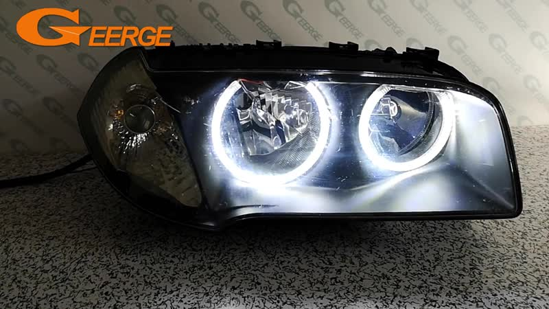 For BMW E83 X3 2003 2004 2005 2006 Halogen headlight Excellent Ultra bright illumination smd led Angel Eyes Halo Ring kit DRL