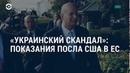 Показания американского посла АМЕРИКА 17.10.19