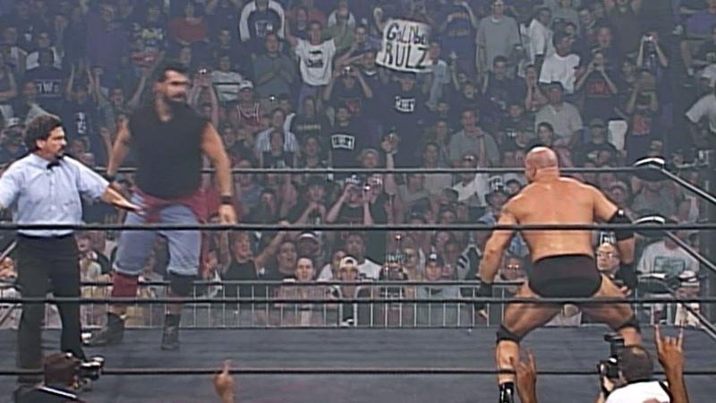 Goldberg destroys a 7 foot 2 Superstar WCW Thunder June 18 1998