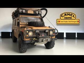 Hyper scaled Camel Trophy D110 ride+RC models