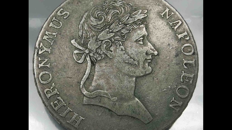 Germany Westphalen Thaler 1812 C Hieronymus Napoleon Old Silver Coins コイン 硬幣 монета