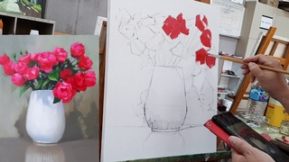choessi art studio /  how to paint oil painting/ 油畵oil color painting tutorial