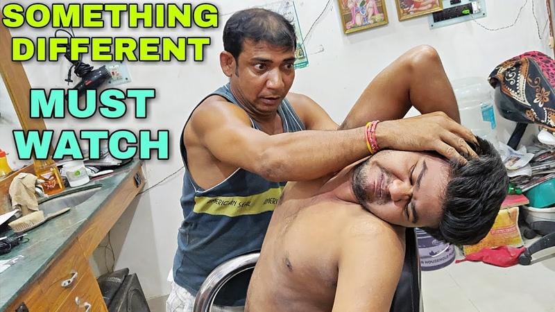 Amazing bone crasher Indian head and body massage Neck cracking Powerful ASMR