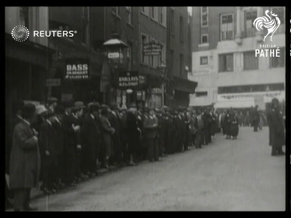 The Conservative Party and Mr Baldwin deliver election platform at Theatre Royal Drury Lane 1929