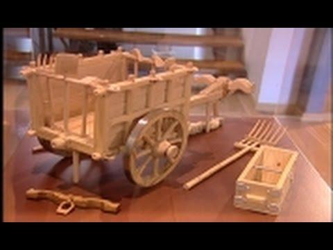 Teófilo Rubio expone una selección de tallas en madera en el Museo Etnográfico de Sanse