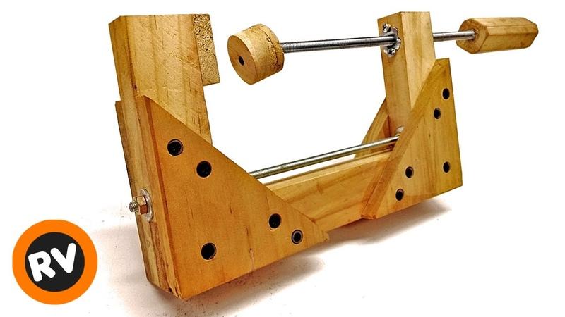 💵 ECONOMICA ✔️ FUERTE ➡️ Como hacer PRENSA CASERA para MADERA Sargento PRENSA C para carpintería