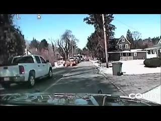 Gas Explosion Caught On Police Dashcam - Here Comes The Boom