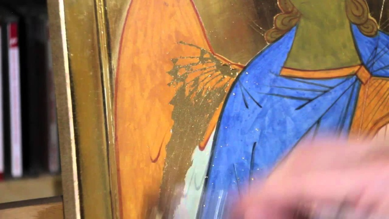 8 0 Icone d'un Ange les décorations en or pur assist