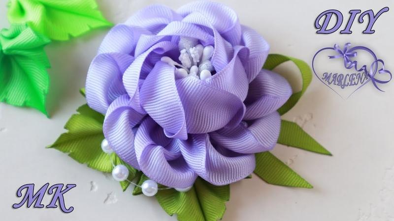 РОЗА ИЗ ЛЕНТ. Цветы МК DIY Ribbon Rose
