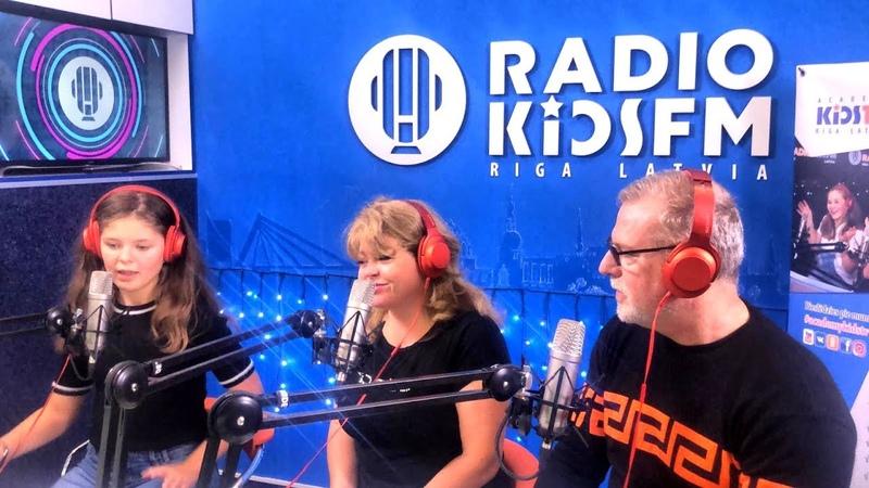 Мы попали на Radio kidsFM в Риге
