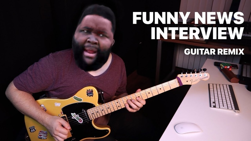 Funny News Interview by The Real Spark Guitar Remix by Sava Tsurkanu Hold Up Wait A Minute